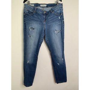 Torrid faded distressed skinny jeans